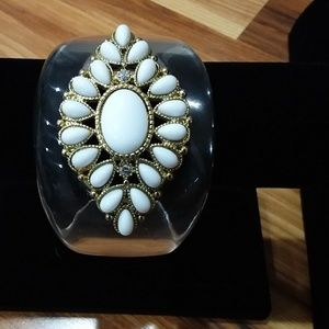 *3 for $10* Clear Bracelet with White Rhinestones